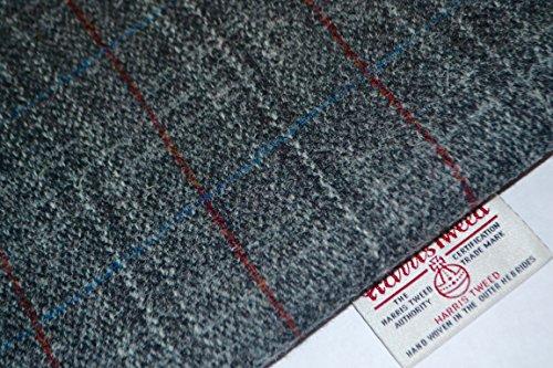Harris Tweed-Tela 100% pura lana virgen Gris Rojo y Blanco Medio Metro) 75/50cm-también se vende como medio metro) & Craft paquetes Ver Handmaiden Otros Productos del Reino Unido