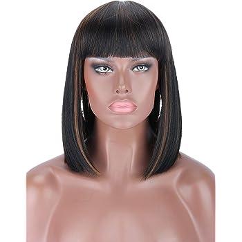 Kalyss Soft Swiss Lace Front Short Straight Black Bob Wigs