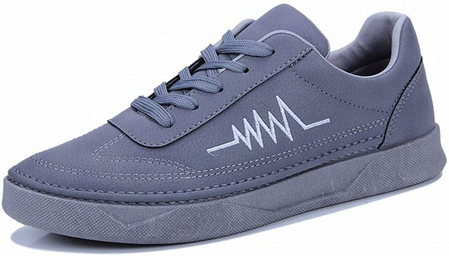 FuweiEncore Male Tide shoes Youth Lightning Pattern Black Casual shoes shoes (color   Grey, Size   41)