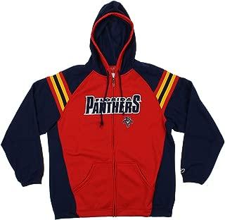 Florida Panthers NHL Mens BRU Full Zip Fleece Hoodie, Red