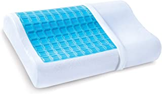 Gel Memory Foam Pillow - Comfortable Cooling Pillow Neck Pain - Cervical Support Pillow Back Stomach Side Sleepers - Bed O...