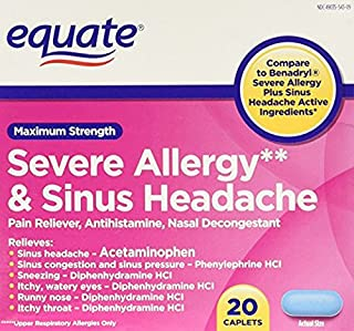 Best equate severe allergy Reviews