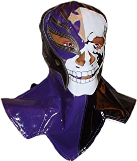 WWE Rey Mysterio Purple and Black Youth Size Simulated Leather REPLICA PANTS