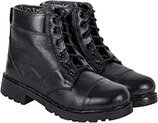 Blinder Mens Black Leather Boots