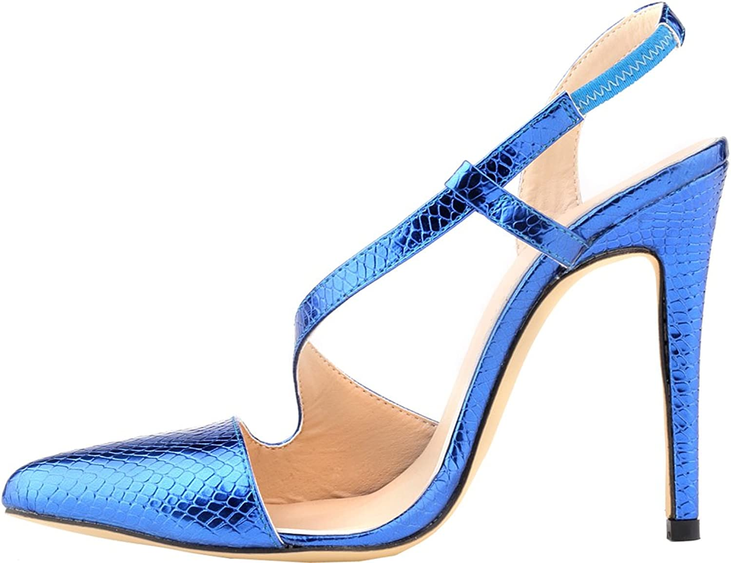 Vimedea Womens Highed Pointed Toe Classic Trend Crafted Office Business Pumps 302-1