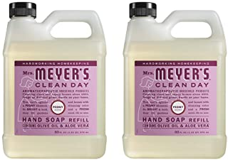 Mrs. Meyer's Clean Day Liquid Hand Soap Refill, Peony Scent (33 OZ - 2 PACK)