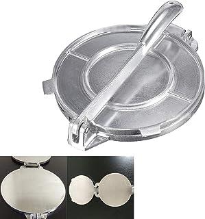 20cmTortilla Press w/Foldable Handle, Non-Stick Aluminum Tortilla Maker Press Pan for make Homemade Tortillas or Tacos, Ki...