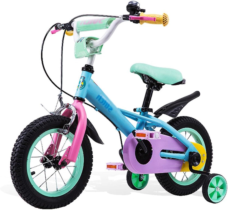 Kinderfahrrder Fahrrad 6-7-8-9-10 Jahre Alt Farbe Kind Baby Mdchen Baby Fahrrad 12 Zoll, 14 Zoll, 16 Zoll Kinderwagen (Farbe   Blau, Größe   14 inches)