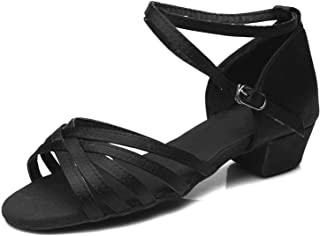 SMALL FAT Wholesale Girls Kids Ballroom Tango Salsa Latin Dance Shoes Low Heel Shoes 20 Colors