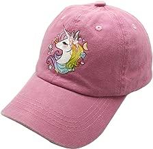 Waldeal Girls Adjustable Cute Unicorn Ponytail Cap, Baseball Cap for 3-12 Years