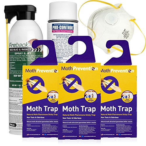 CLOTHES MOTH KILLER KIT | Including Clothes Moth Traps by MothPrevention – 6 Months Protection for Closet Clothing! | Professional Grade