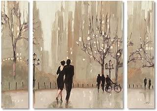 Trademark Fine Art WAP0111-3PC-SET-LG an an Evening Out Neutral by Julia Purinton, Large,