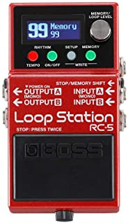 BOSS Loop Station – Advanced Compact Looper with Class-Leading Sound Quality, 99 Phrase Memories, 57 Rhythms, and MIDI Con...