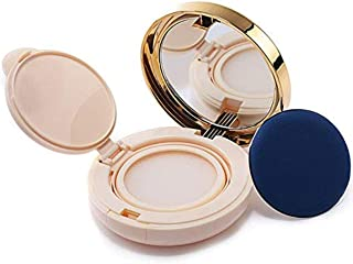 15Ml/15G/0.5Oz Empty Refillable Detachable Upscale Luxurious Golden Portable Make-up Powder Container Loose Powder Concealer BB Cream Cosmetics Box With Sponge Powder Puff and Extra Inner Mirror