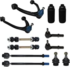 Detroit Axle - 12-Piece Front Suspension Kit - 2 Upper Control Arm & Ball Joints, 2 Lower Ball Joints Fit Steel Control Arms Only, Inner & Outer Tie Rods, 2 Front Sway Bars