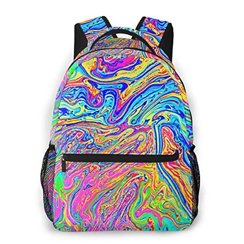 Laptop Rucksack Schulrucksack Regenbogen geschaffen durch Seife, 14 Zoll Reise Daypack Wasserdicht für Arbeit Business Schule Männer Frauen