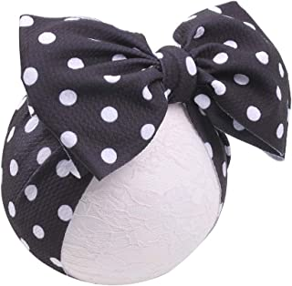 YanJie Baby Large Bows Headwrap Stretch Print Textured Fabric Top Knot Turban Headband Hair Accessories