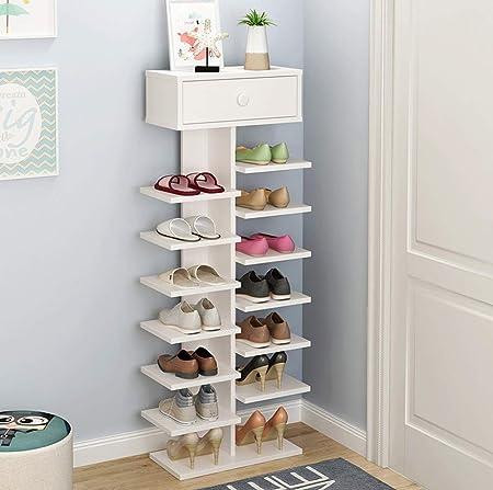 AINIYF Estantes para zapatos de madera con cajones, soporte ...