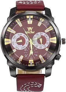 fb19f06cb ShiKai - Reloj de Pulsera para Hombre de Negocios, Gran Esfera de Reloj de  Piel