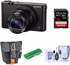 Sony Cyber-Shot DSC-RX100 III Digital Camera, 20.1MP - Bundle with Case, 32GB Class 10 SDHC Card, Cleaning Kit, USB Card R...