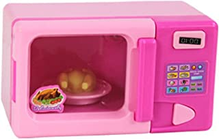 MagiDeal Dollhouse Miniature Microwave Oven Home Appliance 7.5 X 5.5 X 11.5 Cm Kids Role Playing Pink
