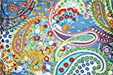 Yuvancrafts Indian Multi Color Paisley Print Fabric by Yard