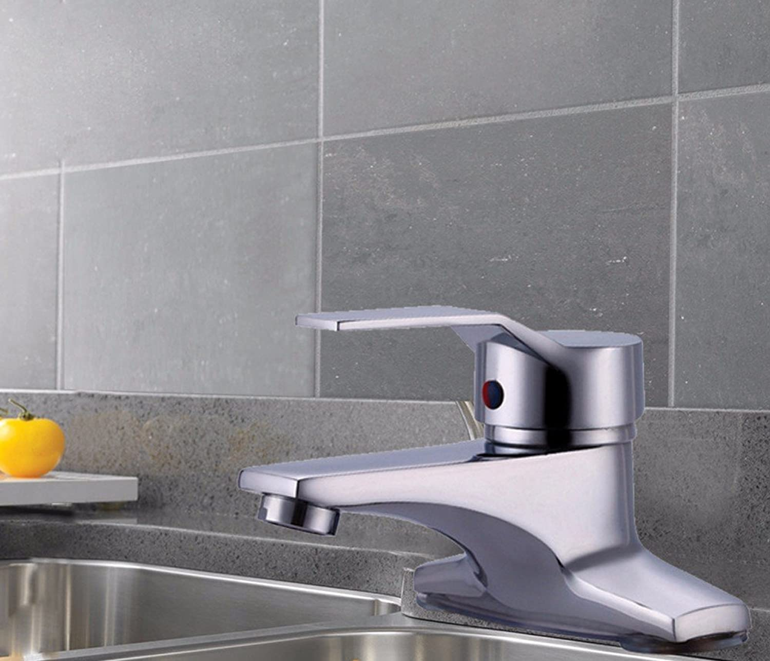 LHbox Basin Mixer Tap Bathroom Sink Faucet 2) Hot and cold water basin double-basin water mixing valve