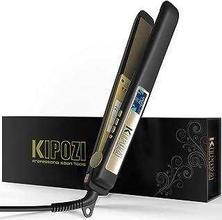 comprar comparacion KIPOZI Plancha de Pelo Profesional, Plancha de Titanio para Alisar o Rizar el Cabello sin Daños, Pantalla Digital con Temp...