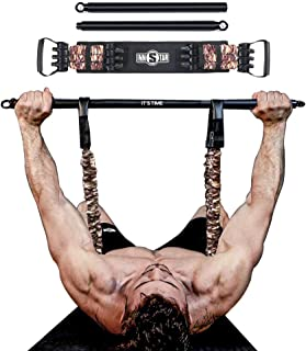 INNSTAR Bench Press Band with Detachable Bar, Adjustable Push Up Resistance Bands, Portable Chest Builder Workout Equipmen...