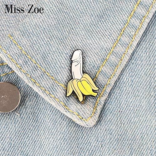 Pin de banana esmaltado con diseño de frutas, broches de caricatura, regalo para amigos, broche de solapa, hebilla divertida para ropa, jeans y bolsos