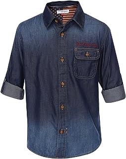 USPA Boy's Plain Regular Fit Shirt