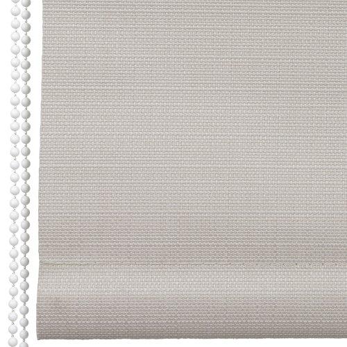 Liedeco Rollo Struktur Verdunkelung, Seitenzugrollo, Länge 175 cm Creme, 142 cm x 175 cm (B x L)