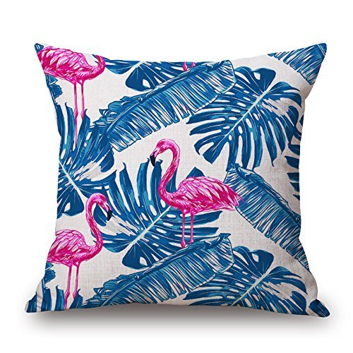 iksrgfvb Decorative Tropical Forests Bird Printing Throw Covers Square Throw Pillow Case Cushion Cover Pillowcase for Home Sofa Decoration Pattern 45X45 CM