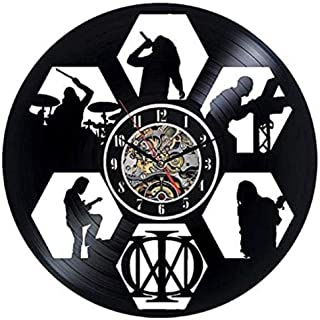 CHANGWW Dream Theater Vinyl Wall Clock Decoración Negra Decoración Moderna Vinyl Wall Clock Amigos y Familiares
