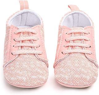 d401118892d01 Nagodu Shoes Zapato para Bebes niña Tipo Tenis de Tela Rosas con Blanco y  Cintas Estilo