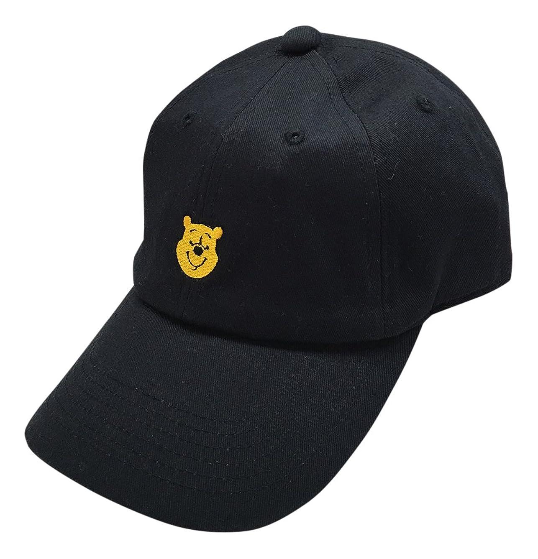 外交問題説明するひいきにするディズニー 刺繍CAP プー ブラック AWDS4420