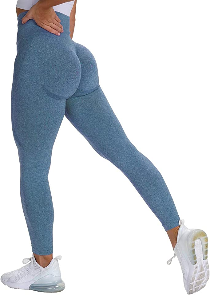 Womens High Waisted Leggings Seamless Gym Running Sports Yoga Leggings Fitness Workout Yoga Pants
