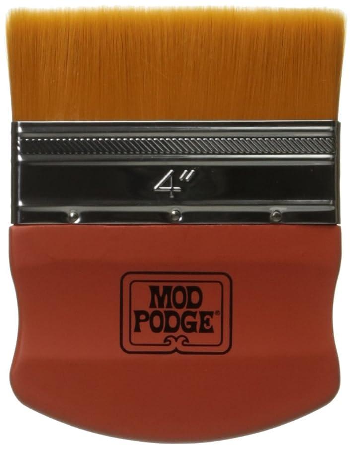 Mod Podge Brush Applicator 4-Inch, 12917 Gold Taklon, 1 Pack,