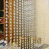 XU-F-C-BYC, Kristallvorhang 1 m Kristall Glas Perlen Vorhang Wohnzimmer Schlafzimmer Fenster Tür Hochzeit Decor