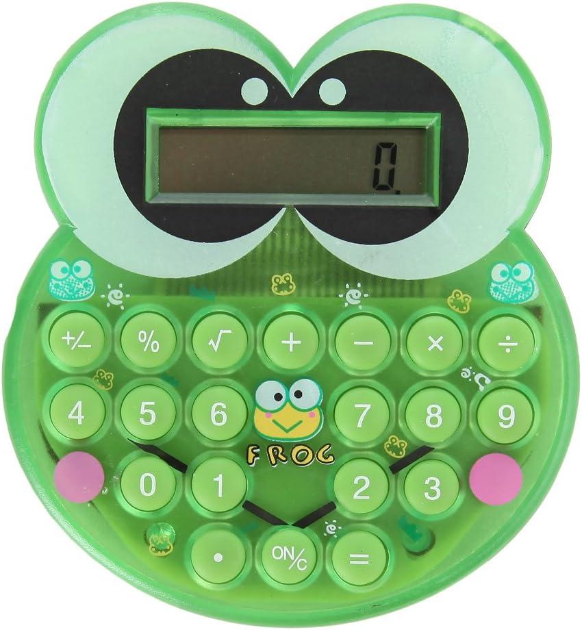 Home-X Cute Cartoon Green Frog Calculator Pocket Nashville-Davidson Mall Directly managed store Mini