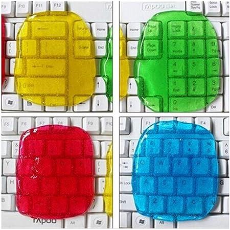 MQFORU Lot de 4 gels de nettoyage pour clavier de guitare, clavier, ordinateur de voiture, ordinateur portable, super gel de silice (couleurs aléatoires)