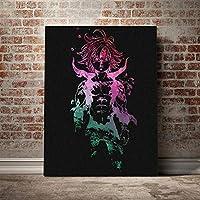 Dragon's Sin of WrathMeliodasアートポスターキャンバスウォールアートデコレーションプリントリビングキッドチルドレンルームホームベッドルームデコレーション/ 60x80cm(フレームなし)