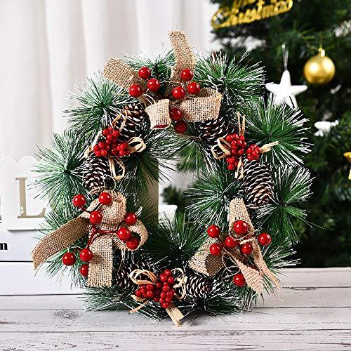 HINK New Christmas Decorations Wooden Luminous Elk Christmas Tree Pendant Ornament, Three Summary Of Xmas Decoration Garland, Multicolor