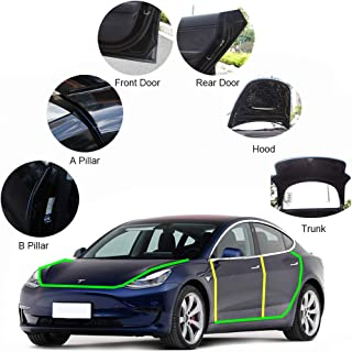 Motrobe Tesla Model 3 Door Seal Kit Soundproof Rubber Weather Draft Wind Noise Reduction Kit Model 3 Accessories