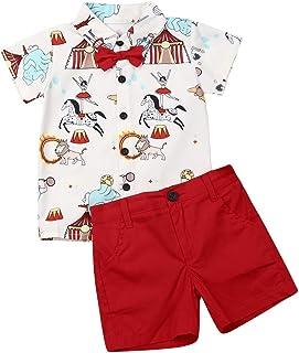 Geagodelia Baby Sommer Gentleman T-Shirt z krótkim rękawem, krótkie spodnie, zestaw 2-częściowy