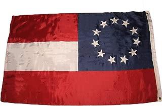 Hebel 3x5 Stars and Bars First National 11 Southern States CSA Civil War Flag 3x5 | Model FLG - 534