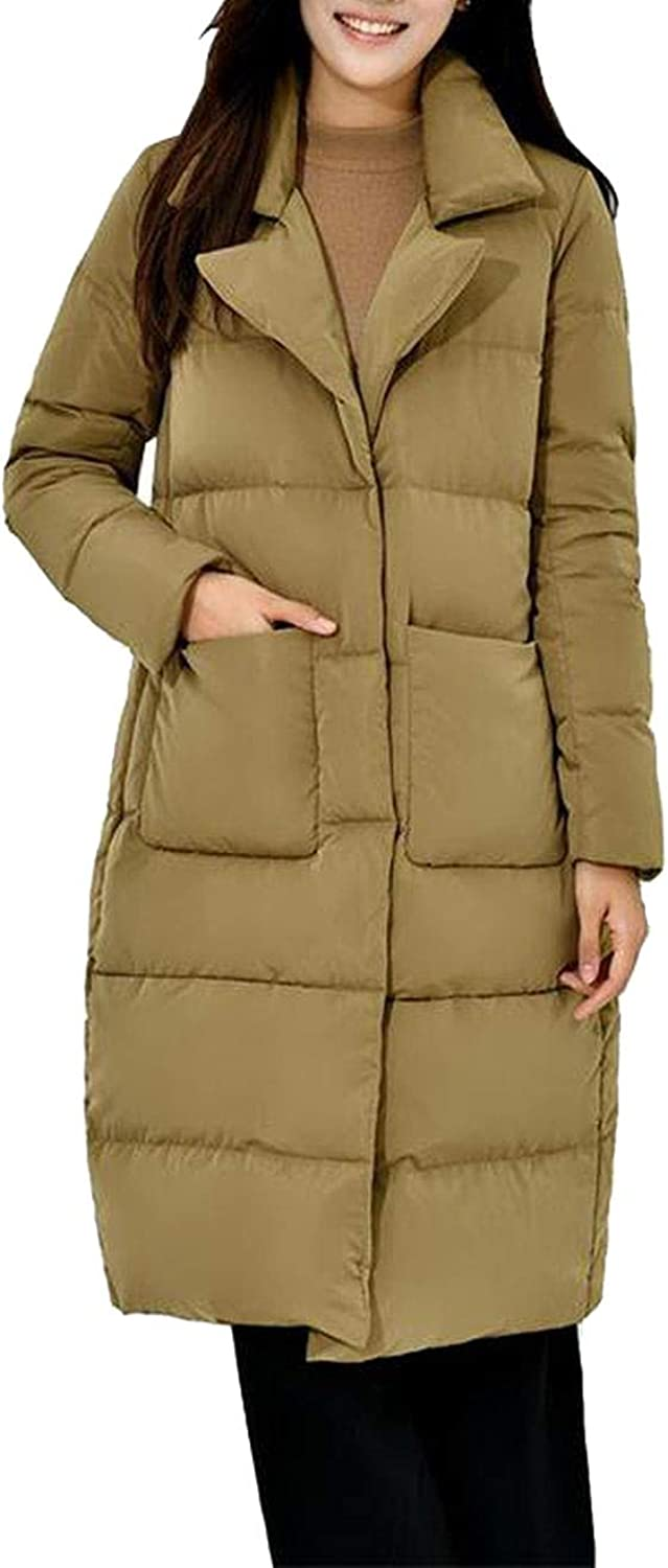 2018 Winter New Ultra Light Duck Down Women Stand Collar Overknee Loose Warm Parkas Coat Women