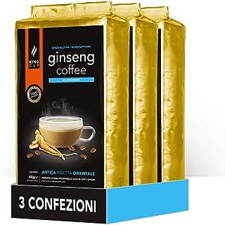 King Cup - 3 Sachets de 400 Gr de Melange en Poudre de Café Soluble au Ginseng Sans Sucre, Idéal pour Ajouter à l'Eau Chau...