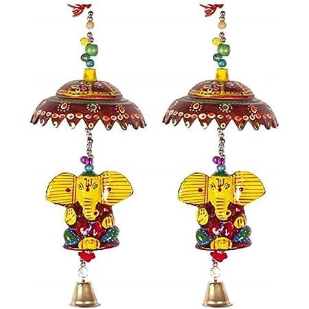 Fashion Bizz Religious Decorative Ganesha Door Hangings Wall Art for Main Door/Living Room, Standard, Multicolor