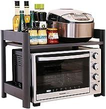 Multifunctional Kitchen Storage Rack Storage Shelf 2-Tier Microwave Oven Shelf Thicken Kitchen Holder Aluminum Alloy Spice...